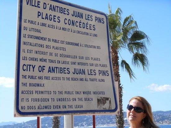 Juan les Pins Main Beach : Juan les Pins - Amei e amo esse lugar!