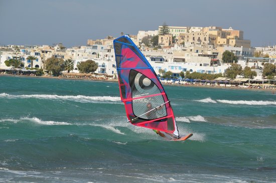 Naxos Town, Greece: planche 2,80, voile 3,50 m²