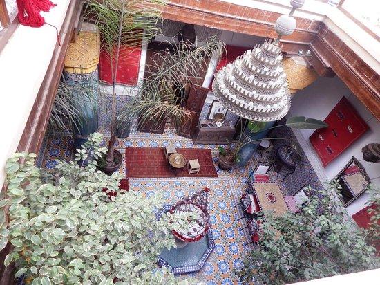 Riad Bibtia: Vista desde el segundo piso