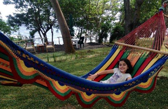 Xalli Ometepe Beach Hotel: One of the many hammocks at Xalli!