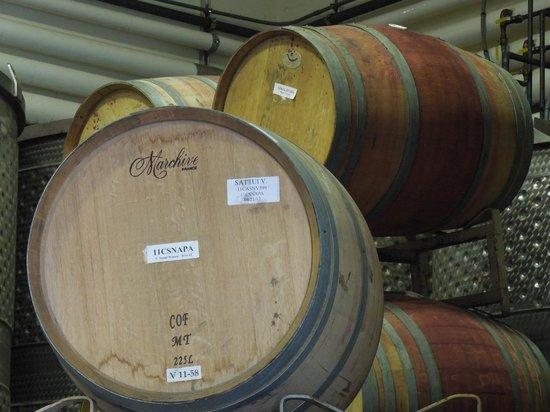 Castello di Amorosa : Wine barrels