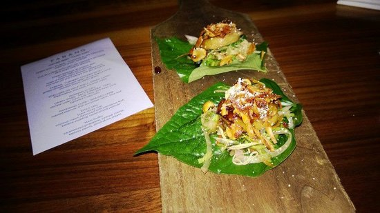 Cha plu leaf with grilled Farang's sausage