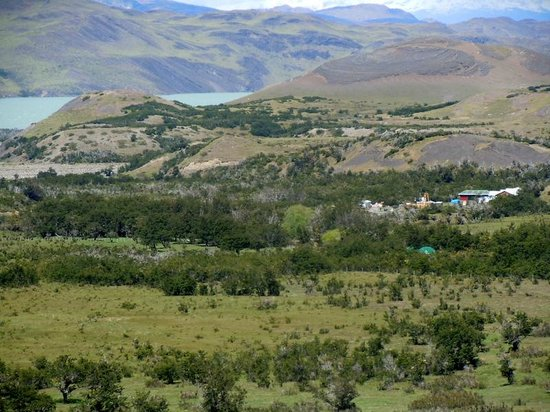 Las Torres Patagonia: A view back at the meadow from a nearby hill