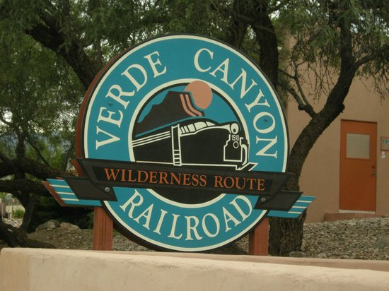 Verde Canyon Railroad : The entrance to the Clarkdale depot
