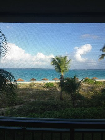 Sands at Grace Bay: View of beach and ocean from our porch