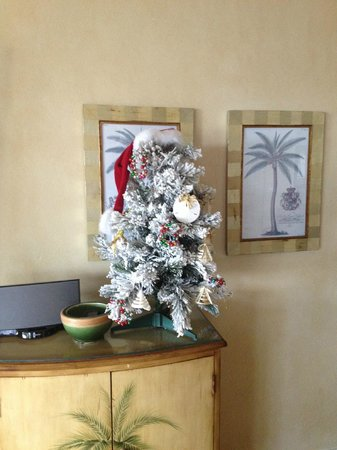 Sands at Grace Bay: We even had our own tiny Christmas tree