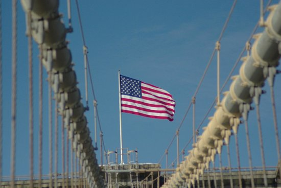 Puente de Brooklyn: Starspangled Banner på Brooklyn Bridge