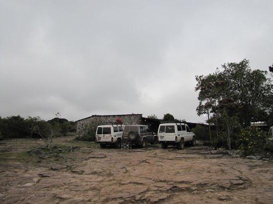 Campamento Chivaton : donde paran los vehículos