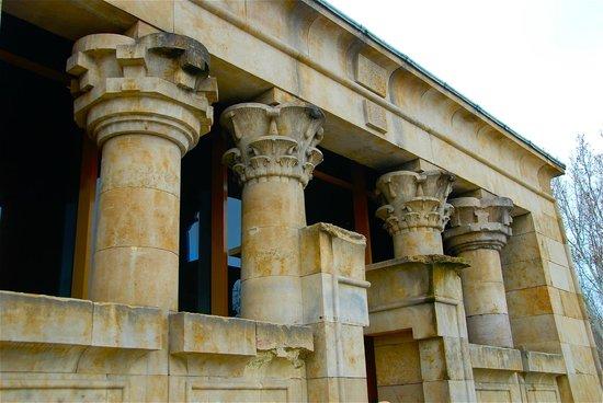 Templo de Debod : Particolare dell'ingresso.