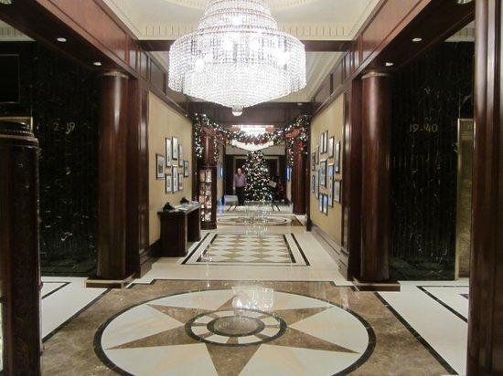 Lobby Christmas Tree From Elevators
