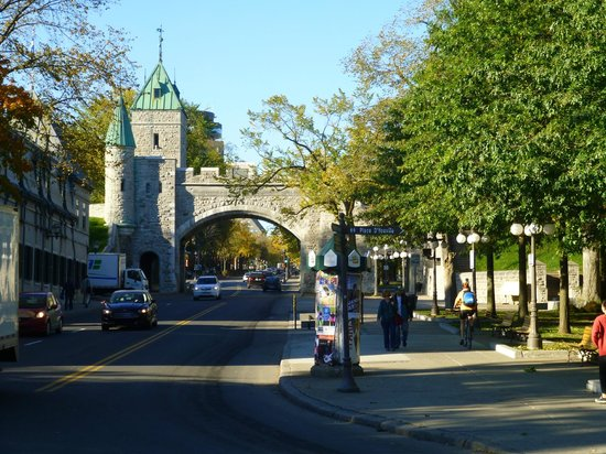 Old Quebec: ST Louis Gate across from our hotel