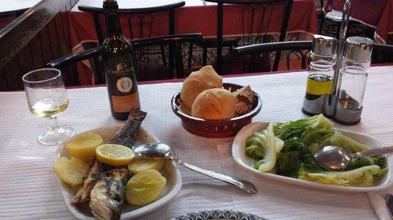 Restaurante Romao: my dinner grilled robalo
