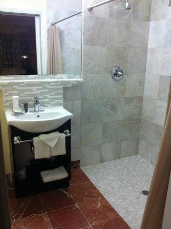 Vendange Carmel Inn & Suites: Bathroom with spacious shower
