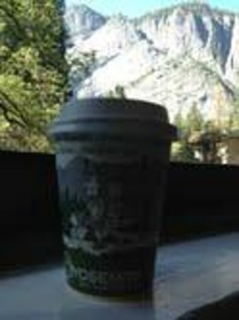The Majestic Yosemite Hotel: Ahwahnee coffee and view from our room