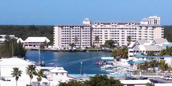 Grand Lucayan, Bahamas: Marina-view from our 8th floor balcony