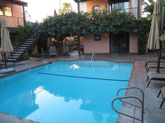 Hotel California pool area, Palm Springs CA