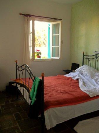 Hotel Aegean Village: My beautiful bedroom at the Aegean Village!
