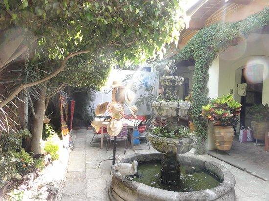 Hotel Las Mariposas: part of courtyard