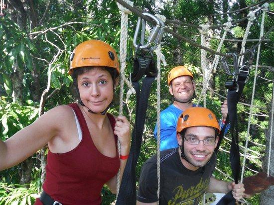 Just Live! Zipline Tours: swinging high above ground