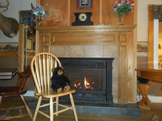 Historic Pittston Farm: Fireplace in Lodge