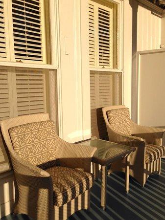 Hotel del Coronado: Balcony off resort king