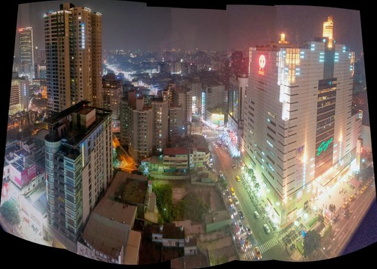 The Splendor Hotel : Night view over Taichung