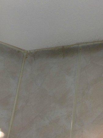 Prague Marriott Hotel: sporcizia del soffitto bagno