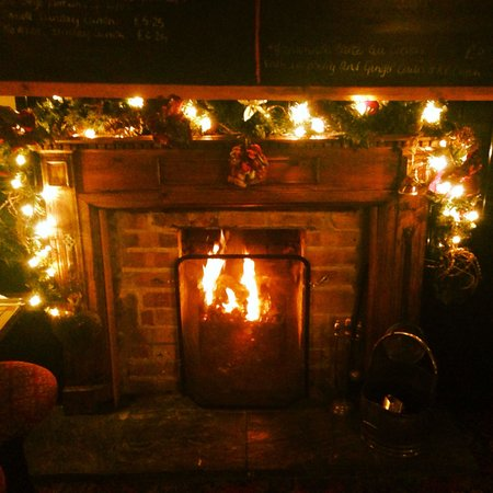Fireplace At Christmas Picture Of The Woolpack Inn
