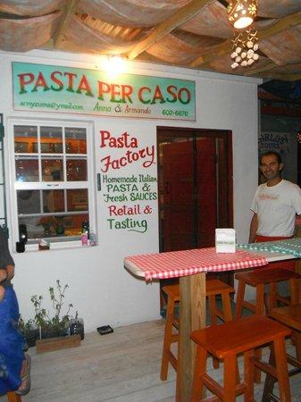Pasta Per Caso Anna & Armando : Best restaurant on Caye Caulker