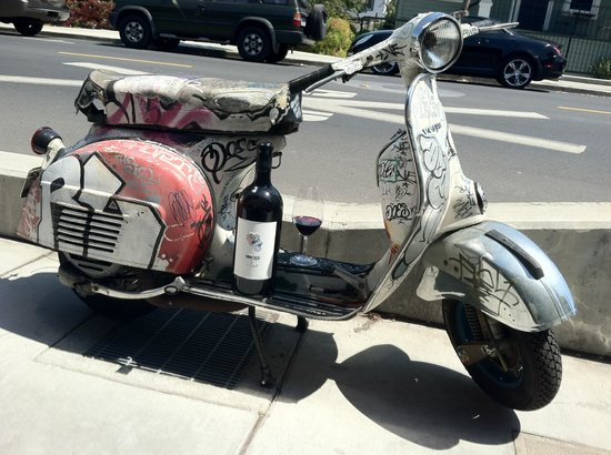 Wines By Mark Herold Graffiti Vespa With Mark Herold Wine Parked Out Front Very