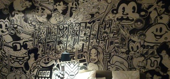 Ace Hotel New York: Camera e murale