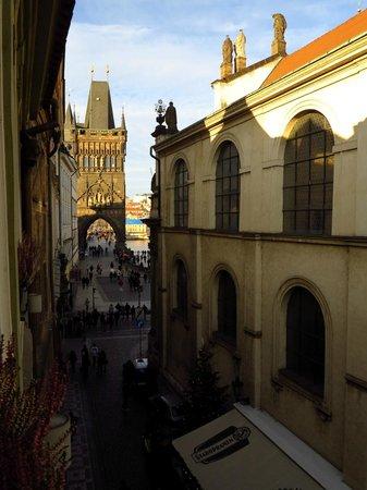 Hotel U Zlateho Stromu: view from my room