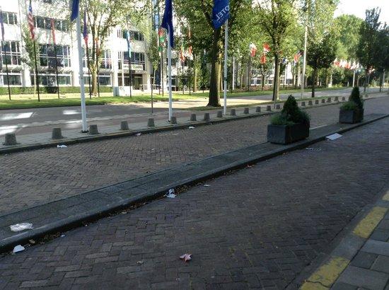 Novotel Den Haag World Forum: Dirty, dirty driveway (no good!)