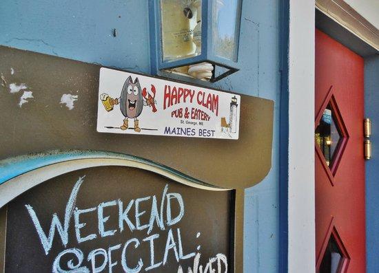 Happy Clam Bumper Sticker