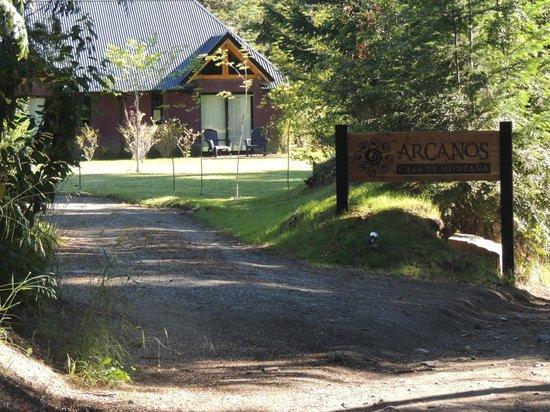 Arcanos, Casa de Montaña: Al llegar al hotel