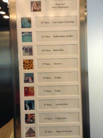 Novotel Den Haag World Forum: Theme per Floor