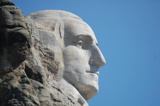 Mount Rushmore National Memorial: Washington profile.