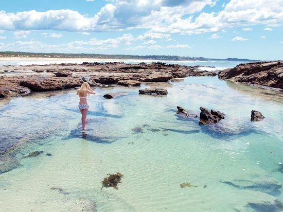 Berrara Beach Chalets: Mermaid pool - a 30min walk along the beach away
