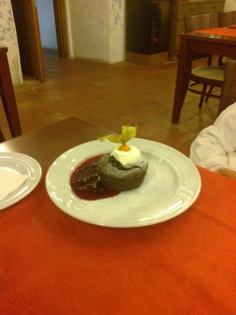 Hotel Tvrz Orlice: Just one of the sweets that my friends had