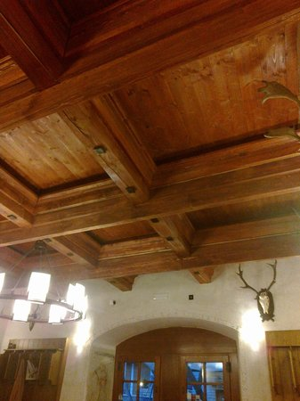 Hotel Tvrz Orlice: The ceiling in the dinning area