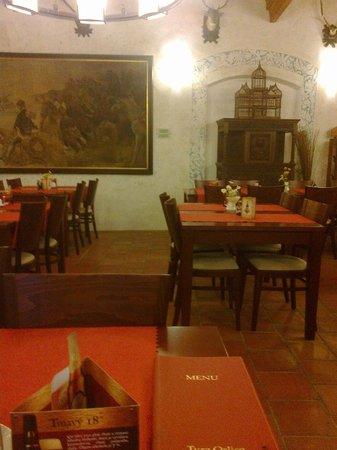 Hotel Tvrz Orlice: The furniture in the dinning area