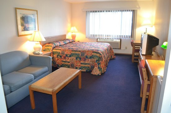 Sky Lodge Inn & Suites: King bed with Sofa Sleeper