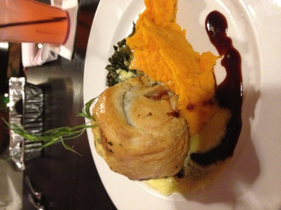Boshamps Seafood & Oyster House: Venison Wellington with Mashed Butternut Squash. Insane.