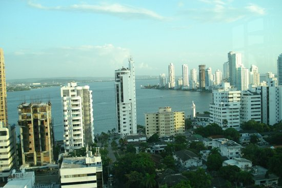 Hampton by Hilton Cartagena: gorgeous view from hotel lobby!