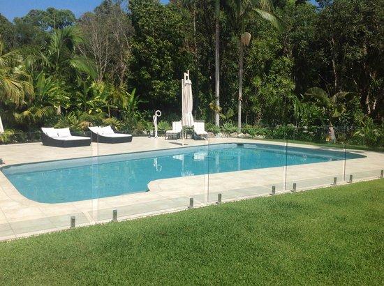 Noosa Habitat Resort B & B : Pool with Sun Lounges