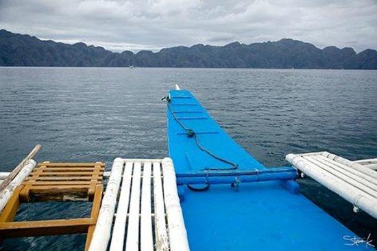 El Rio y Mar Resort: Coron Tour: Leaving the mooring area.