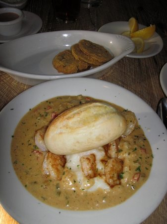 Shrimp and grits picture of felix 39 s fish camp grill for Felix s fish camp restaurant