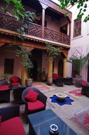 La Maison Arabe: One of the many interior courtyards.