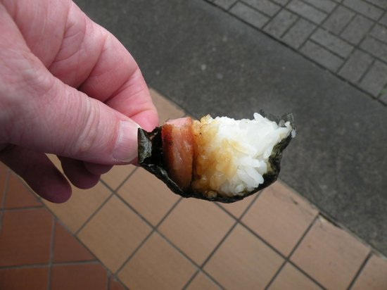 Hawaii Food Tours: Spam musubi