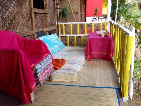 Ocean Breeze: terrace from one of the garden huts